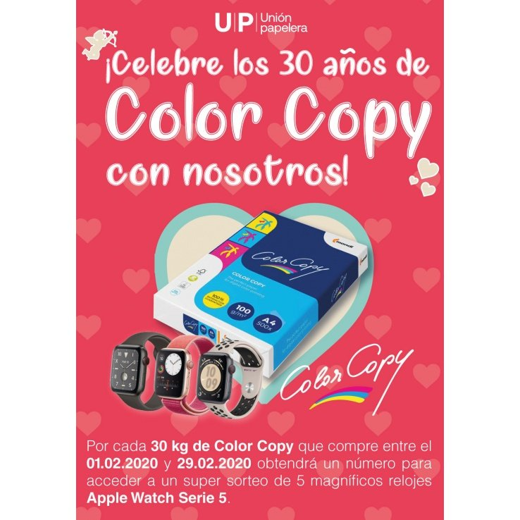 Sorteo de un Apple Watch Serie 5 para celebrar los 30 años de Color Copy.